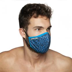 Addicted Leopard Mask royal blue