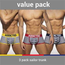Addicted 3 Pack Sailor Trunk