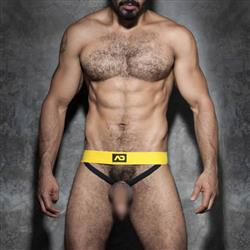 Addicted Fetish Cockring Double Jock yellow