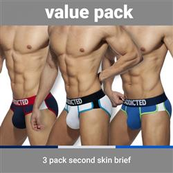 Addicted Second Skin 3 Pack Brief