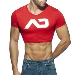 Addicted Crop Ad Top red