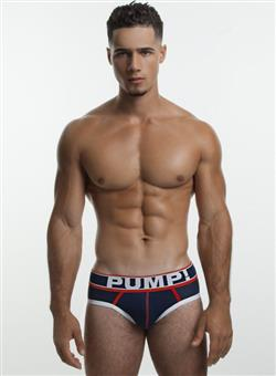 PUMP Big League Brief navy white red