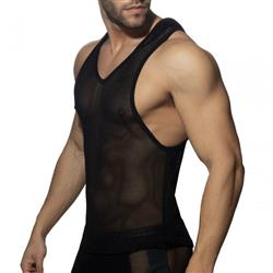 Addicted Mesh Sleeveless Hoody black