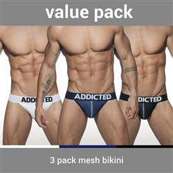 Addicted 3 Pack Mesh Bikini Push Up