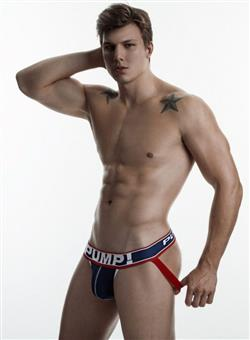 PUMP Big League Jock navy white red