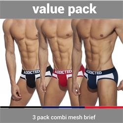Addicted 3 Pack Combi Mesh Brief