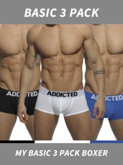Addicted My Basic 3 Pack Boxer