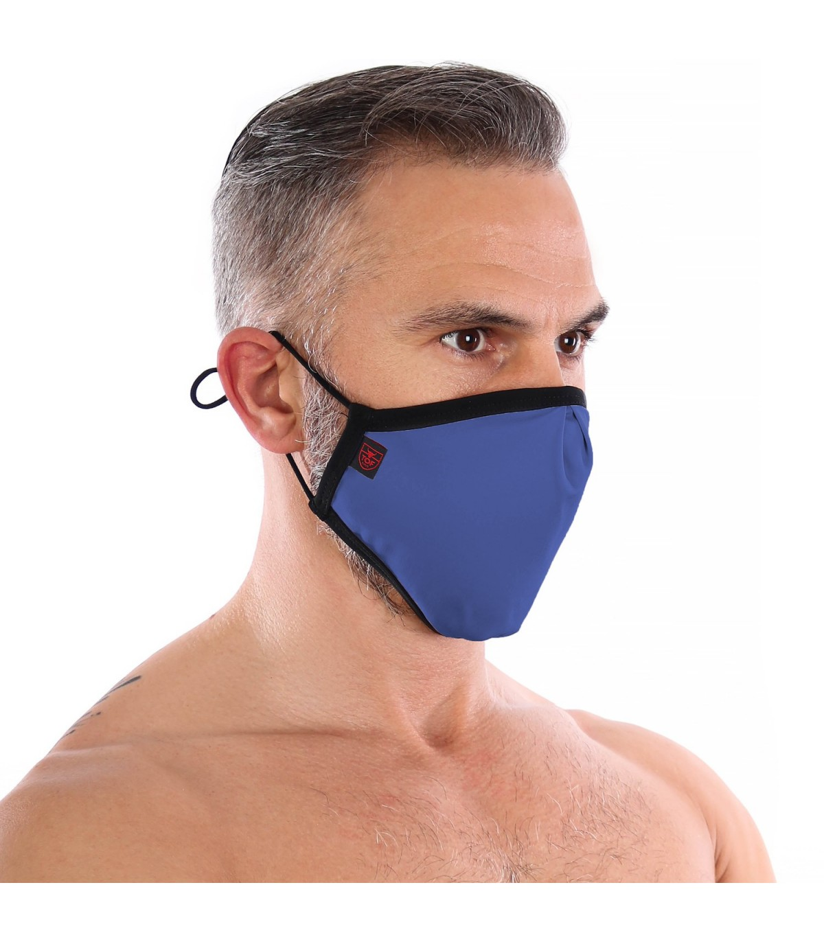 Tof Paris Fashion Washable Seamless Mask blue