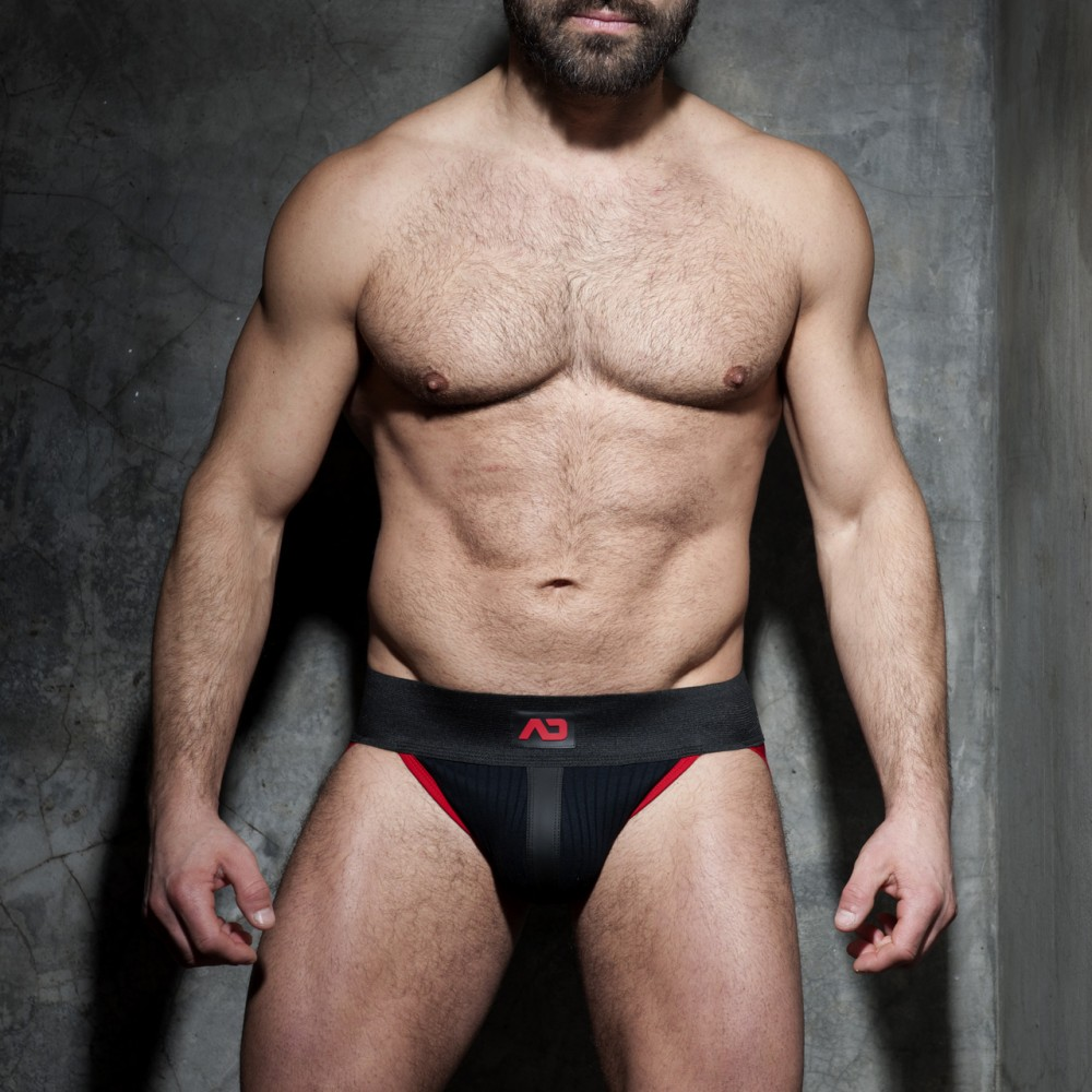 Addicted Fetish Rib Jock red