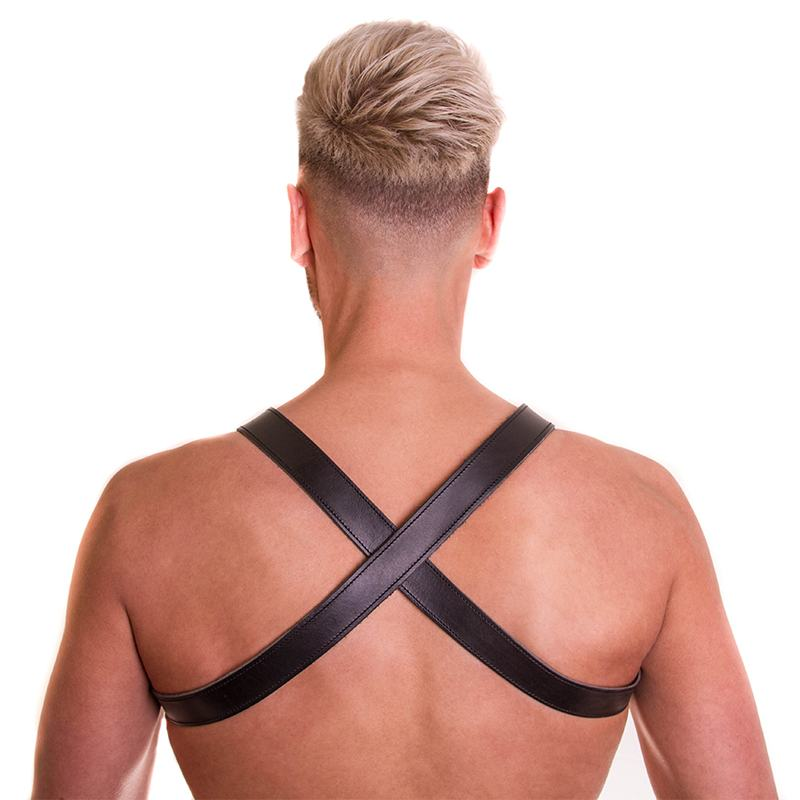 Mister B Leather X-Back Harness black