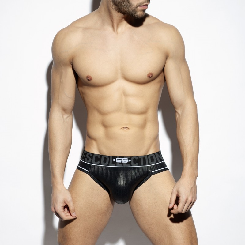 ES Collection Shiny Rib Jock black
