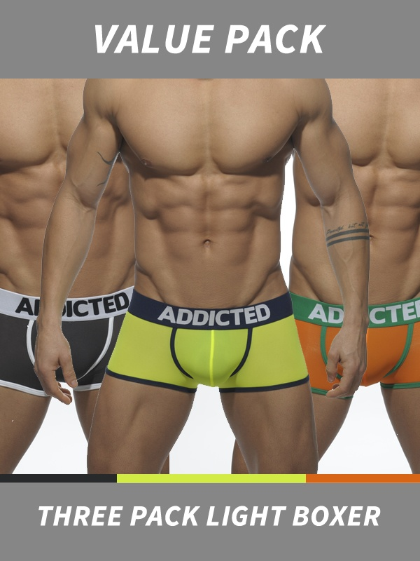 Addicted Three Pack Light Boxer