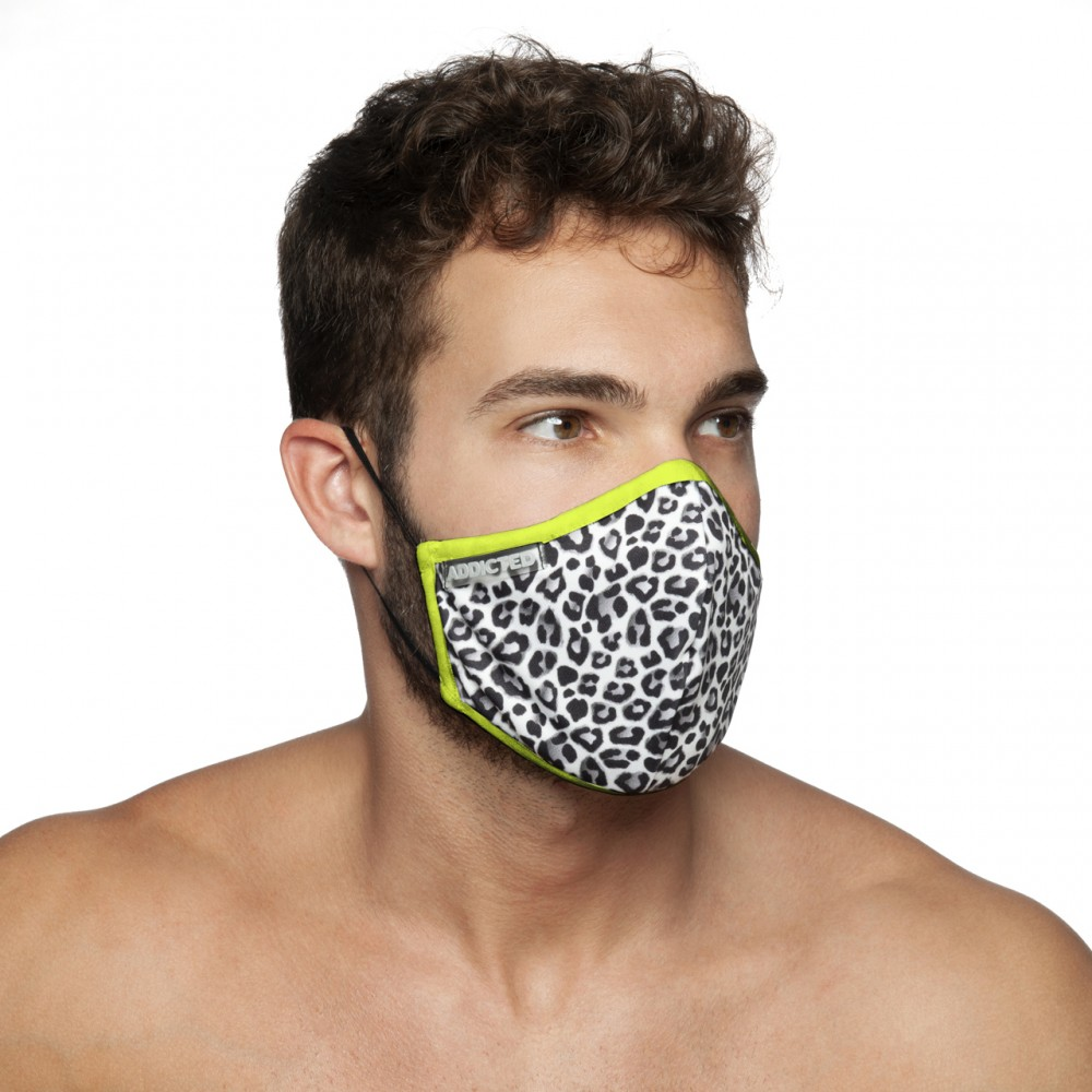 Addicted Leopard Mask white