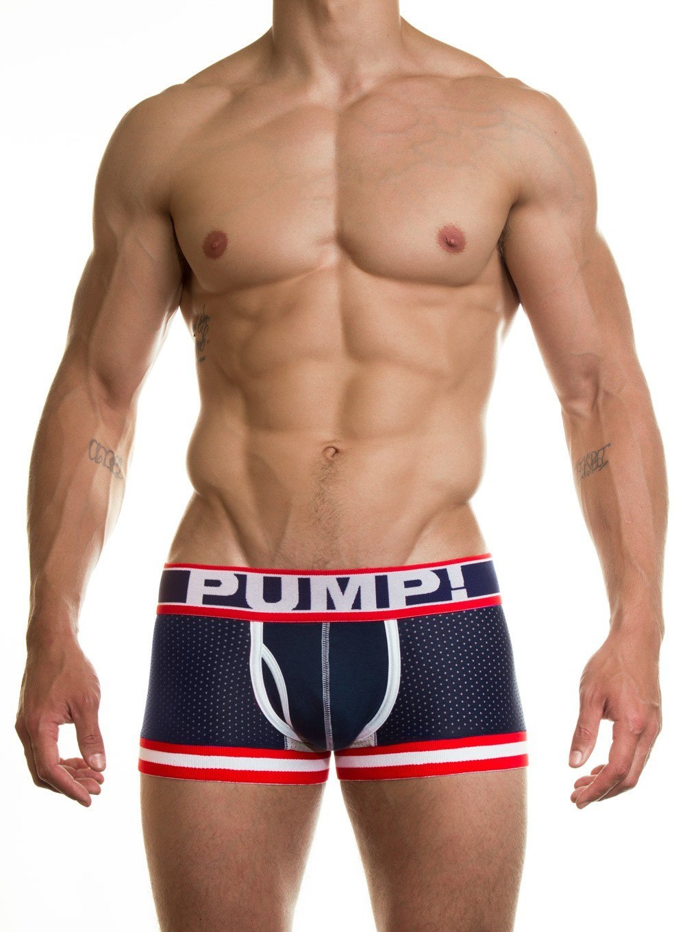 PUMP Big League Boxer navy red white